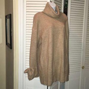 Zara new 2019 cashmere sweater camel color oversiz